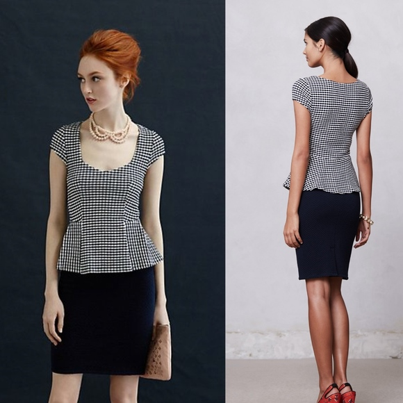 Anthropologie Dresses & Skirts - NWOT Anthropologie Preppy Peplum Pencil Dress